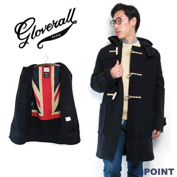 """(グローバーオール) Gloverall #Uion Jack """"MONTY""""Men's Duffle Coat モンティ 背裏ユニオンジャック ダッフルコート メルトン ネイビー 英国製 (送料無料/メンズ/トラッド/カジュアル/アウター/コート/復刻/イギリス/XS/S/M)(3585/52)"""