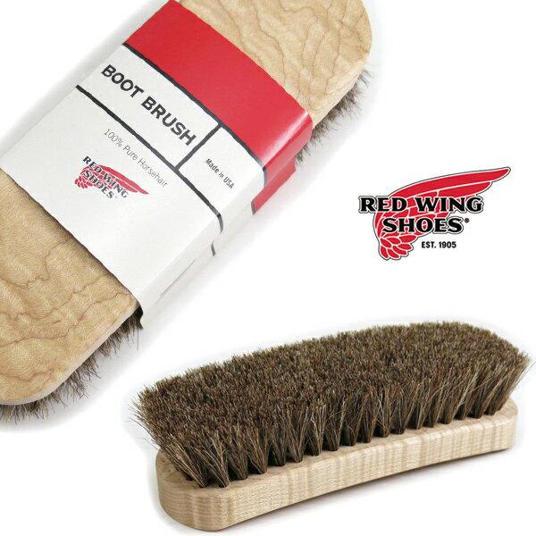 (レッドウィング) RED WING #BOOT BRUSH ブラシ 馬毛 ホースヘア シューケア アメリカ製 お手入れ用品 NO.97106 汚れ落とし 艶出し 純正 正規品 ウイング (革靴/シューズ/レザー/ブーツ/ShoeCareGoods)
