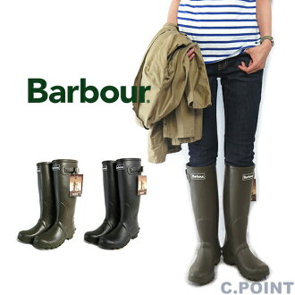 (バブアー) Barbour #BEDE Classsic Ruber Boots bead rubber boots rain boots long length natural rubber lining タータンチェックストラップベルトタウニュースアウドドア (/ Lady's / rubber boots / boots / handmade / black / olive /23cm - 25.5cm)