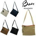 (18SS) (ブレディ) Brady #DARWEN ダーウィン ショルダーバッグ サコッシュ ドリルドロップ 防水 鞄 男女兼用 コットンツイル…