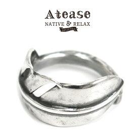 (アティース) Atease #Feather Ring フェザーリング 指輪 シルバー925 17号 19号 羽根 アクセサリー SILVER 日本製 (送料無料/男女兼用/ハンドメイド/メンズ/レディース)