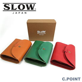 (スロウ) SLOW #333S71G flap Short Wallet toscana Leatherトスカーナレザー ショートウォレット 三つ折り財布 フラップ イタリアンレザー 日本製 牛革 (送料無料/メンズ/レディース/経年変化/プレゼント/ギフト)