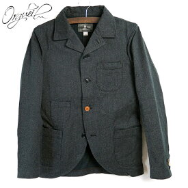 (19AW/再入荷) (オルゲイユ) Orgueil #OR-4012 Sack Jacket サックジャケット 撚り杢ブラック サックコート ナットボタン チケットポケット 本切羽 コットン クラシックワーク 日本製 (送料無料/アメカジ/ダルチザン/ジーンズ/レプリカデニム/OR-024)