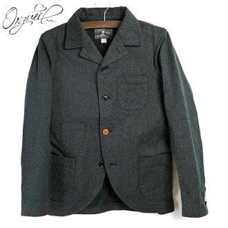奥格 #OR-024 袋夹克层麻袋夹克,希瑟黑一袋大衣不牡丹票口袋这脸古典日本棉