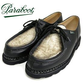 【20%OFF】(パラブーツ) Paraboot #MICHAEL -PONY- ミカエル (メンズ/ポニー/チロリアンシューズ/ノワール/ブラック/黒/リスレザー/マルシェソール/ノルヴェイジャン製法/フランス製/Lisse/Marche/ストームウェルト/革靴/送料無料)