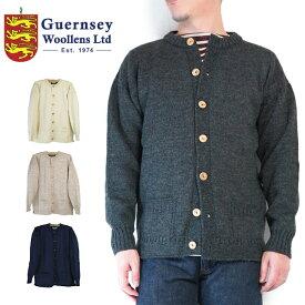 【SALE】(ガンジーウーレンズ) Guernsey Woollens #The Traditional Gurnsey Cardigan(メンズ/ユニセックス/ガンジーセーター/フィッシャーマンズセーター/ニットカーディガン/ウール/ウッドボタン/イギリス製/秋冬/カジュアル/トラディショナル/送料無料/25800)