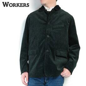 【30%OFF】(ワーカーズ) WORKERS #Boardwalk Jacket -Black Corduroy-(メンズ/ボードウォークジャケット/ワークジャケット/ヘビーコデュロイ/裏地付き/フラップポケット/ブラック/綿100%/日本製/秋冬/カジュアル/19AW/送料無料)