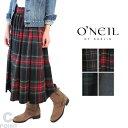 【30%OFF】(オニールオブダブリン) O'NEIL of Dubline #S265WP Tuck Flared Skirt 72cm #タックフレアスカート ウールブレンド タータ…