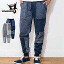 (シュガーグライダー) SUGARGLIDER #Crazy Sweat Pants(クレイジースウェットパンツ/イージーパンツ/グレー/ネイビー/裾リブ/パッチワーク/フクロモモンガ/メンズ/レディース/S/M/L/XL/SG30004/送料無料)