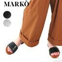 (マルコ) MARKO #OneStrap LeatherSandal #ワンストラップ レザーサンダル Lady's 牛革 しなやか 靴擦れしないレザーサンダル ブラック…