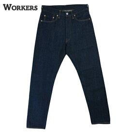 ワーカーズ WORKERS #Lot802 Slim Tapered Jeans メンズ スリムテーパードジーンズ 細身 ボタンフライ 13.75オンス 耳付き 紙パッチ 米綿 綿100% インディゴ ワンウォッシュ 日本製 ボトム カジュアル アメカジ アメトラ 【送料無料】