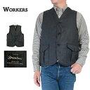 20AW (ワーカーズ) WORKERS #Cruiser Vest -Dominx Double Cloth-(メンズ/クルーザーベスト/ハンティングベスト/バッグ代わり/三日月型…