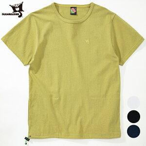 (シュガーグライダー) SUGARGLIDER #HIDE POCKET T(メンズ/ハイドポケットTシャツ/隠しポケット/ワンポイント/バインダーネック/ドローコード/半袖/ポケTee/S/M/L/XL/SG16031/送料無料) 【ネコポス便対応可