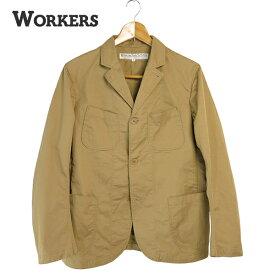 20SS (ワーカーズ) WORKERS #Lounge Jacket - Light Chino -(メンズ/ラウンジジャケット/4つポケット/裏地・袖裏無し/ライトチノ/7オンス/薄地/綿100%/製品洗い/サンドベージュ/日本製/春夏/カジュアル/アウター/36/38/40/送料無料)