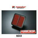 Monster SPORT モンスタースポーツ SD3 PFX300 パワーフィルター エアクリーナー エアフィルター カプチーノ セルボモ…