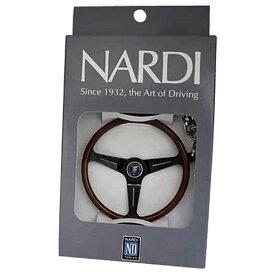 【日本正規品】NARDI ナルディ 00390302 NARDI キーホルダー クラシック ウッド/ブラック ナルディ キーホルダー