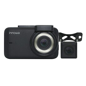 innowa JN002 Journey Plus ドライブレコーダー 前後 2カメラ フルHD Wi-Fi GPS 160度広角 常時/衝撃録画 駐車監視 2年保証 32GB