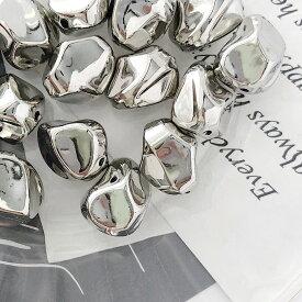 多角形 CCB メタル ビーズ シルバー メッキ加工 スペーサー 基礎 アクセサリー パーツ ハンドメイド 韓国【20個入】