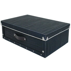 アンティークスタイルモジュールボックス 横型 収納ケース、組立ボックス(ホワイト、グレー、ブラック)(約W38×D25×H12cm)