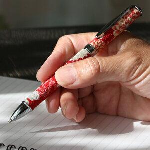 【和小物】花柄シャープペンシル(木苺) 布地 赤 レッド 紅 エンジ 回転式ペン オリジナル 高級 シャーペン 和雑貨 和小物【楽ギフ_包装選択】【楽ギフ_メッセ入力】【RCP】 10P05Dec15