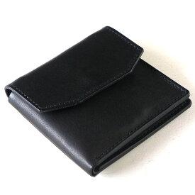 ANNAK(アナック) 栃木レザー コンパクト二つ折り ギャルソンウォレット オールレザー ブラック [AK16TA-B0054-BLK] 2つ折り財布 二つ折り財布 小さい財布 ミニ財布 小銭が出しやすい ショートウォレット ハーフウォレット 牛革 本革 シンプル 黒 レディース メンズ 日本製