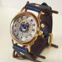 達磨(だるま)手作り腕時計 「本藍」[DW0001-01] ARKRAFT 新木秀和コラボ ハンドメイドウォッチ ハンドメイド腕時計 和時計 メンズ レ…