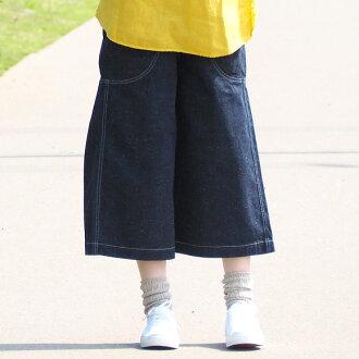 深藍色 (深藍色) 10.5 盎司棉牛仔布園藝褲子一洗長度 [72687-窩],自治州岡山縣倉敷市小島牛仔褲品牌女士 100%棉棉日本日本