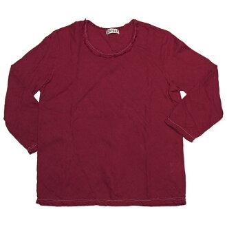 Gauze clothing workshop garage (garage) double gauze simple t-shirt 7-sleeve-women's [TS-53-7S]