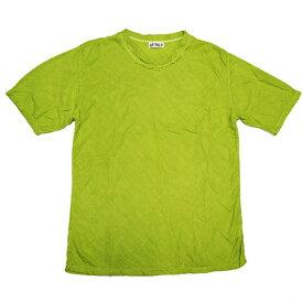 【全25色】ガーゼ服工房 garage(ガラージ)ダブルガーゼ シンプルTシャツ 半袖 メンズ [TS-33-SS] ナチュラルテイストのガーゼ服ブランド コットンガーゼ 二重ガーゼ ハンドメイド 綿100% カラフル 無地 日本製 国産 おすすめ夏服