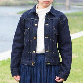 graphzero (graph zero) 16oz JEAN JACKET-GZ111MJ- left intricate design Lady's Kojima, Kurashiki, Okayama jeans denim brand work jacket classical Zara texture navy-blue blue military spring and summer