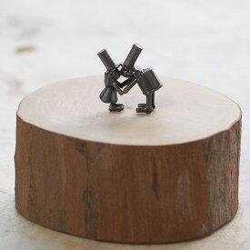 ブロンズ造形作家・コイズミタダシ コビトのオブジェ 「Sweet November.」 [KO-OB-03] 小泉匡 ハンドメイドオブジェ 小さなオブジェ 手作りフィギュア 置物 木製 癒し おしゃれ シンプル かわいい レトロ アンティーク 個性的 インテリア小物 デザイン雑貨 日本製 国産