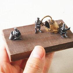 ブロンズ造形作家・コイズミタダシコビトのオブジェ「琥珀色ノスタルジィ」[KO-OB-15]
