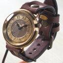 """渡辺工房 手作り腕時計 ジャンボブラス """"GIGANT-B""""[NW-JUM129] 時計作家・渡辺正明さんのハンドメイドウォッチ ハンドメイド腕時計 …"""
