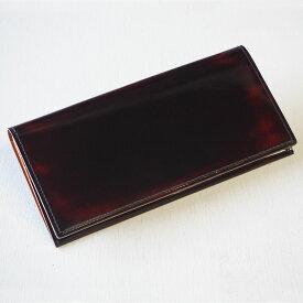 """革工房PARLEY(パーリィー) """"Parley Classic"""" (パーリィークラシック) 二つ折り 長財布 ラズベリーレッド [PC-07-RED] ロングウォレット 磨き革 ハンドメイド ブラウン 茶色 シンプル 小銭入れあり ビジネス メンズ レディース キップ 本革 日本製 国産"""