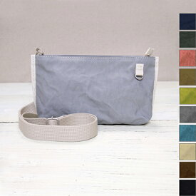 【新色登場!10色から選べます】PEARLFISHER(パールフィッシャー)帆布キャンバス横長2WAYポシェット[PF2016] かばん作家・さいしゅうさつき 手縫い 手ぬいステッチ 鞄 日本製 国産