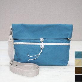 【4色から選べます】PEARL FISHER(パール フィッシャー) 帆布キャンバス エンベロープショルダーバッグ [PF2603] かばん作家・さいしゅうさつき 手縫い 手ぬいステッチ 鞄 日本製 国産