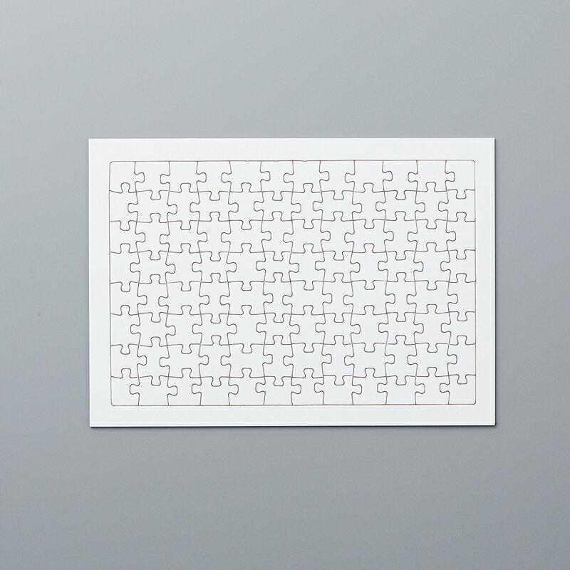 ジグソーパズル (白無地)96ピース / 無地 白 ジグソー パズル 白パズル ホワイトジグソー 夏休み 工作