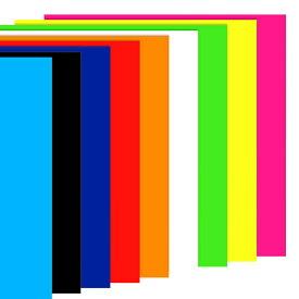 カッティングシート / 光沢カッティングシール (ステッカーシート) 25×30cm 全9色 (蛍光ピンク/黄色/緑/オレンジ/赤 青/白/黒/水色) / うちわのデコレーション、POPや看板、車やバイクの手作りステッカー