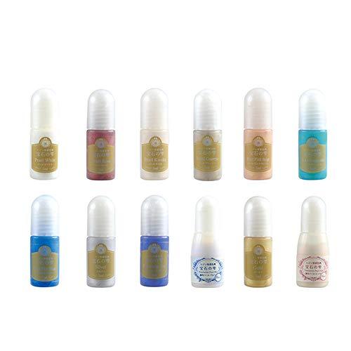 UVレジン用 着色剤 宝石の雫 パール 12色セット / レジン クラフト 着色料 パジコ PADICO