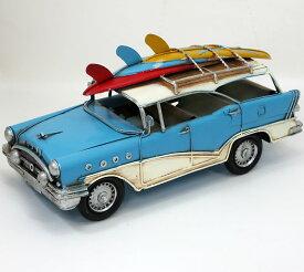 ブリキ製 ヴィンテージカー「SURFワゴン」L35cm ブリキ おもちゃ アンティーク レトロ 車 アメリカン 雑貨 インテリア ブリキのおもちゃ