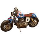 ブリキ製 ヴィンテージバイク「オールドバイクBL」L32cm ブリキ おもちゃ ブリキバイク アンティーク レトロ バイク …