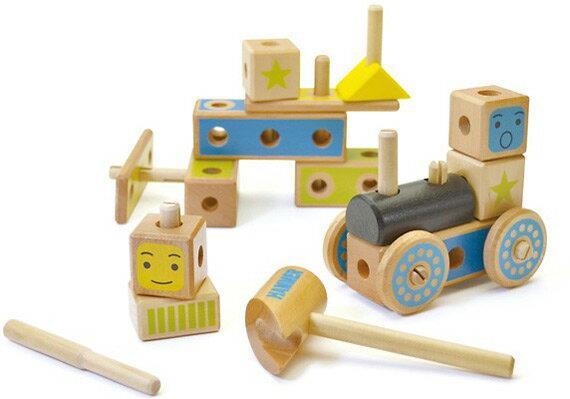 大工【つみき 大工さんセット】木のおもちゃ 工具 知育玩具 2歳 ウッディプッディ 男の子 女の子