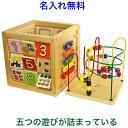 名前入り 知育玩具 1歳半 2歳 これ一つで5種類の 木のおもちゃ 「森のあそび箱」 型はめパズル 木製 動物 ルーピング …