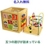 エドインターの木のおもちゃ知育玩具 森のあそび箱 