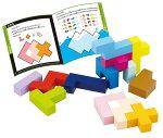 エドインターの木のおもちゃパズル|立体パズル|4歳からの知育玩具