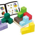 エドインターの木のおもちゃ 賢人パズル 3歳からの知育玩具