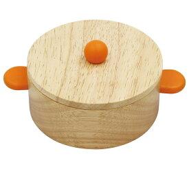 木製おままごと「おなべ(大)」ままごと 木のおもちゃ 道具 鍋 食器 エドインター