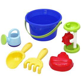 砂遊び6点セット 「ワイドバケツセット(ブルー)」 お砂場セット 赤ちゃん お風呂 おもちゃ 水遊び
