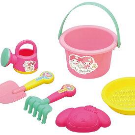 砂遊び6点セット 「マイメロディ バケツセット」 お砂場セット 赤ちゃん お風呂 おもちゃ 水遊び