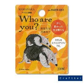 【ワッペン】Who are you ワッペン ミナミコアリクイ 入園 入学 動物 アニマル